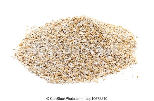 Oat bran on white background - csp10672210