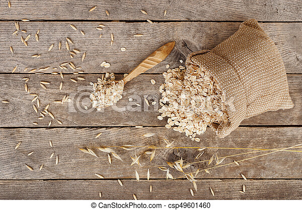 oat flakes in bag - csp49601460
