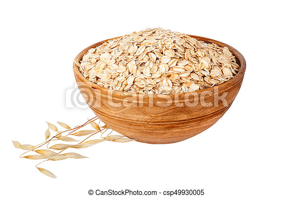 oat flakes in bowl - csp49930005