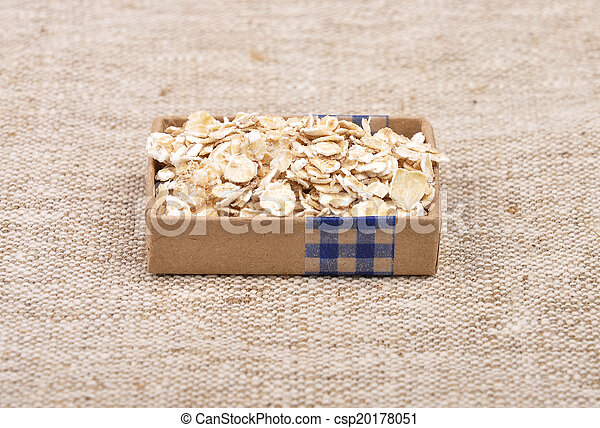 Oat flakes on linen - csp20178051