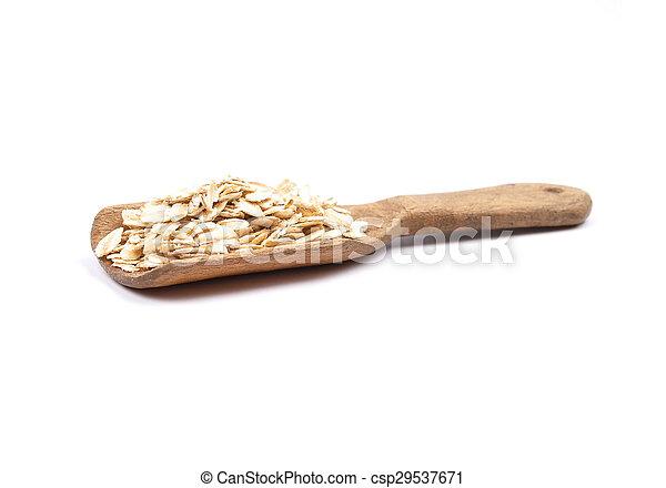 Oat flakes on shovel - csp29537671