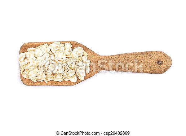 Oat flakes on shovel - csp26402869