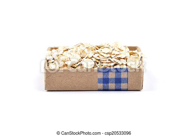 Oat flakes on white - csp20533096