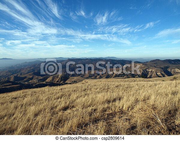 Oat Mountain View, Chatsworth California. - csp2809614