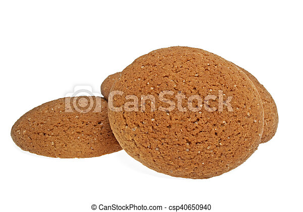 Oatmeal cookies on a white background - csp40650940