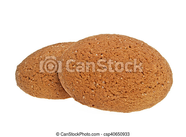Oatmeal cookies on a white background - csp40650933