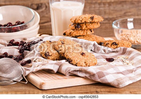 Oatmeal cookies. - csp45642853