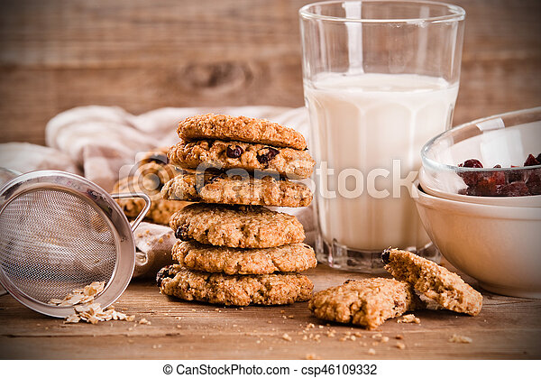 Oatmeal cookies. - csp46109332