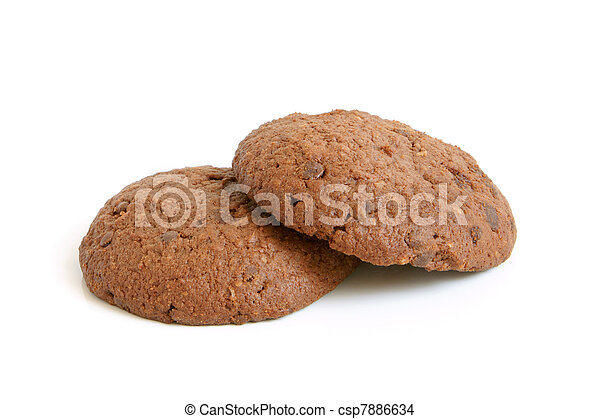 Oatmeal cookies with chocolate - csp7886634