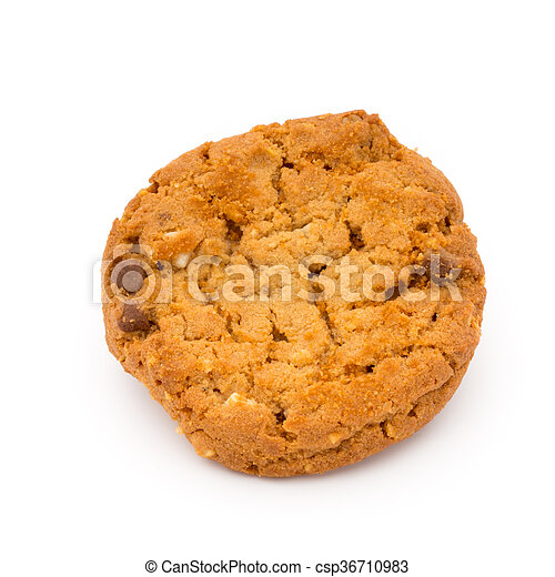 Oatmeal cookies with isolated background. - csp36710983
