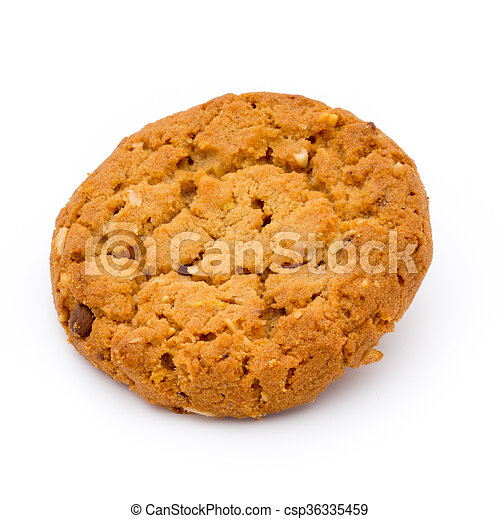 Oatmeal cookies with isolated background. - csp36335459