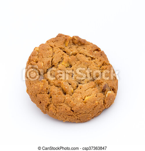 Oatmeal cookies with isolated background. - csp37363847