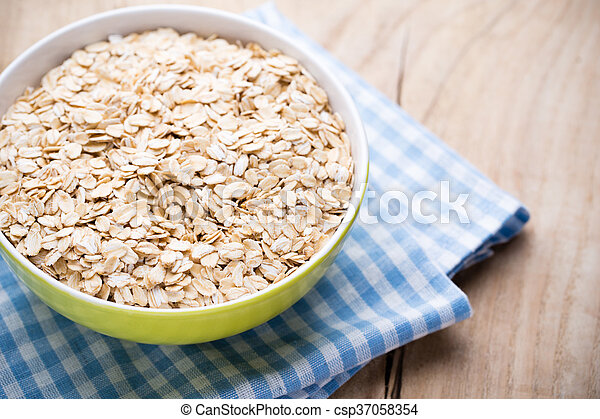 Oatmeal porridge, healthy breakfast. - csp37058354