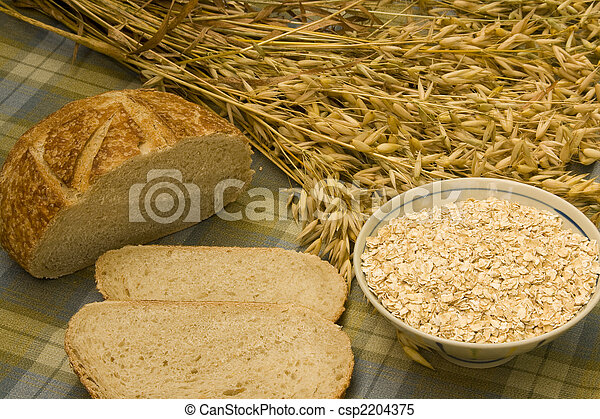 oats oatmeal and bread - csp2204375