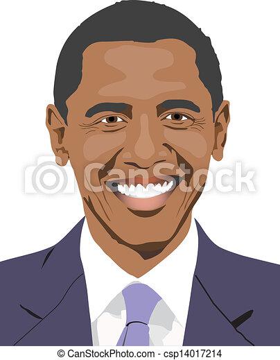 obama s smile barack obama is smiling drawing vector clip art rh canstockphoto com obama cartoon clip art obama cartoon clip art