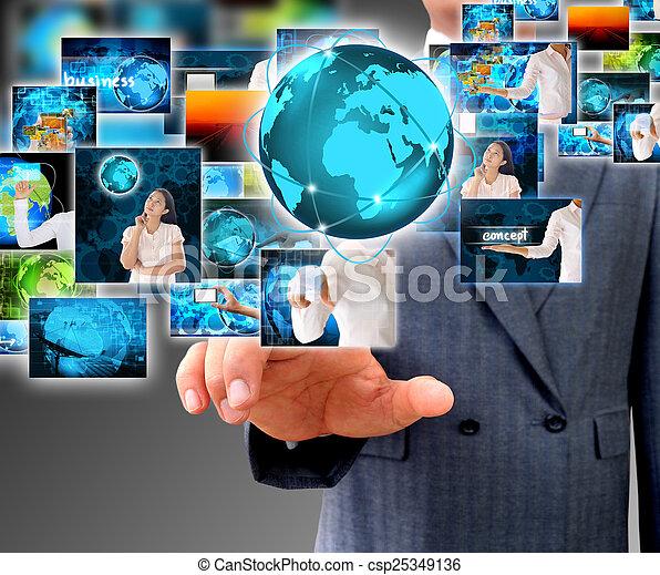 obchodník, majetek, povolání, společnost - csp25349136