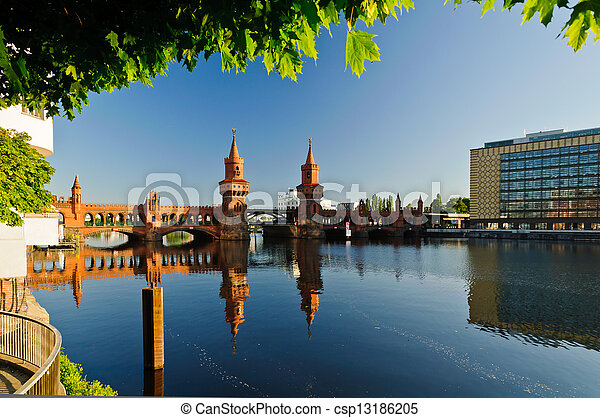 oberbaum bridge berlin - csp13186205