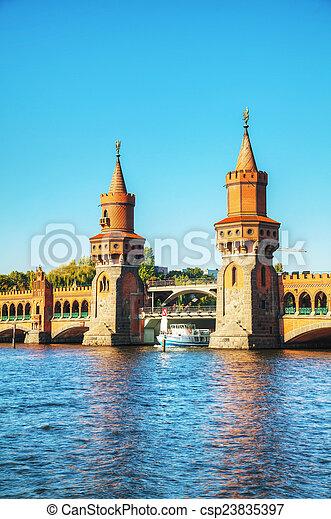 Oberbaum bridge in Berlin - csp23835397