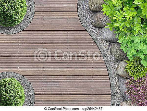 Oberseite, Design, Kleingarten, Ansicht   Csp26442467