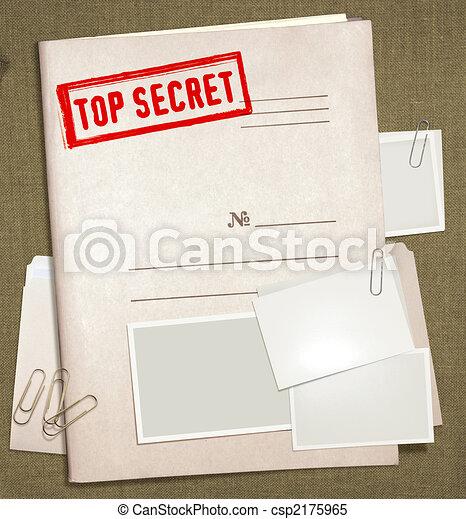 oberstes geheimnis, büroordner - csp2175965