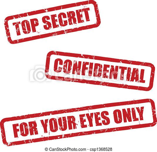 oberstes geheimnis, briefmarken - csp1368528