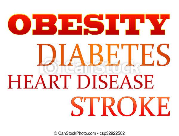 Ilustración de mecanografía de obesidad - csp32922502