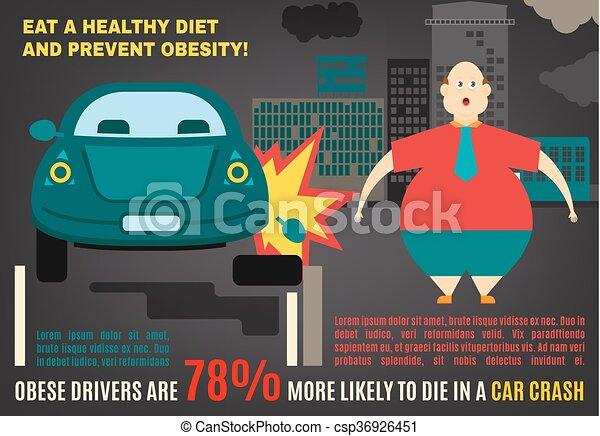 Información de vector de obesidad - csp36926451