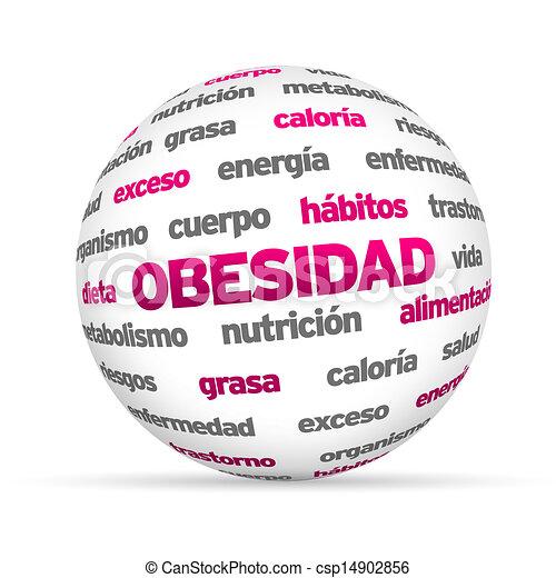 obesty, esfera, palabra, (in, spanish) - csp14902856