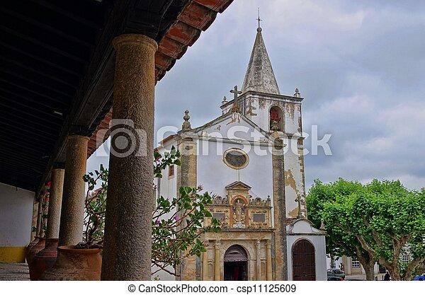 Obidos church 01 - csp11125609