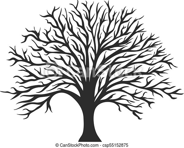 object oak tree silhouette vector vectors illustration search rh canstockphoto com oak tree graphic design old oak tree graphic