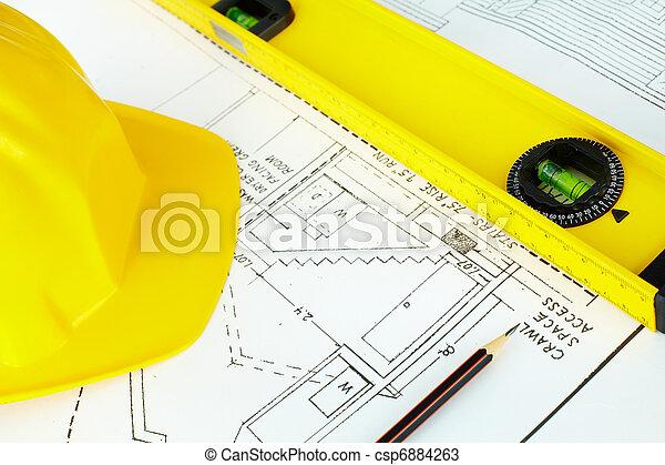 objekt, arkitektonisk - csp6884263