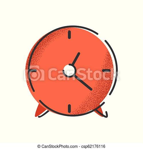 objet, isolé, clock., vecteur, internet, retro., icône - csp62176116