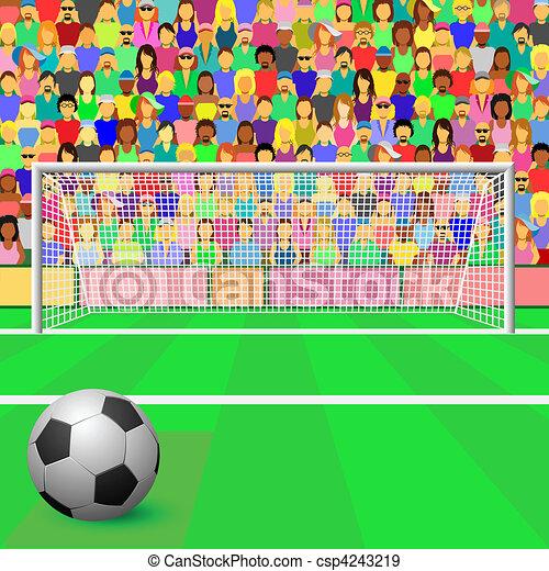 Gol de fútbol - csp4243219
