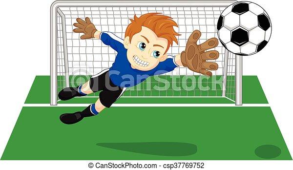 El portero del fútbol - csp37769752