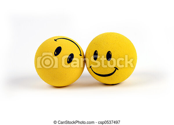 objetos, -, amarela, smiley enfrenta - csp0537497