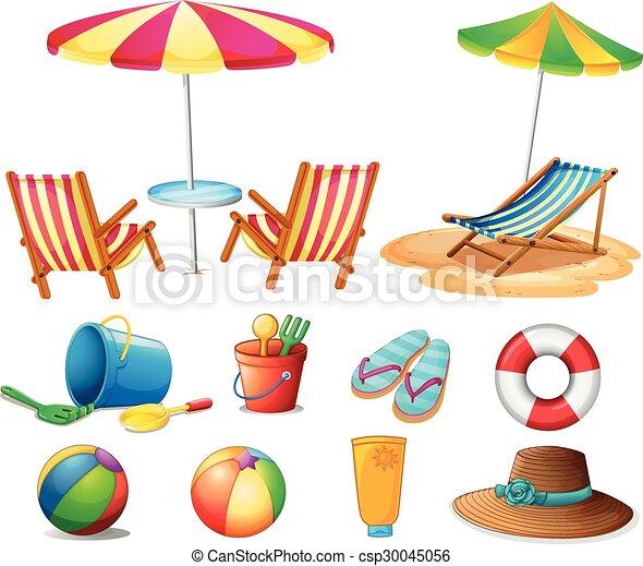 objetos brinquedos praia objetos praia ilustração brinquedos