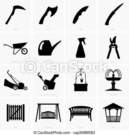 objetos, jardim - csp30986583