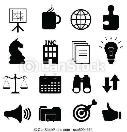 objetos, jogo, negócio, ícone - csp8994884