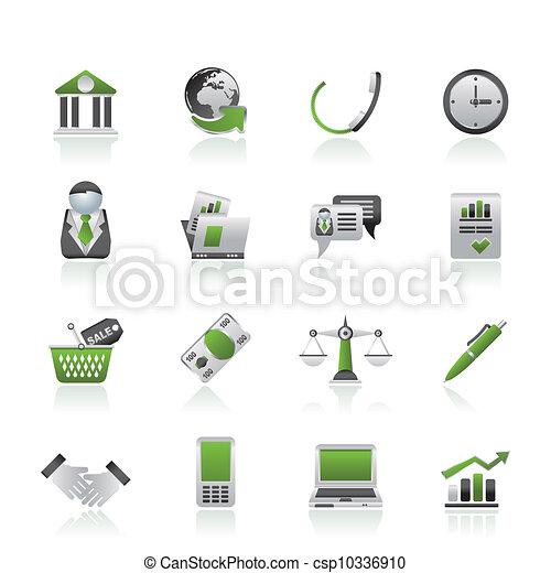 objets, bureau affaires, icônes - csp10336910