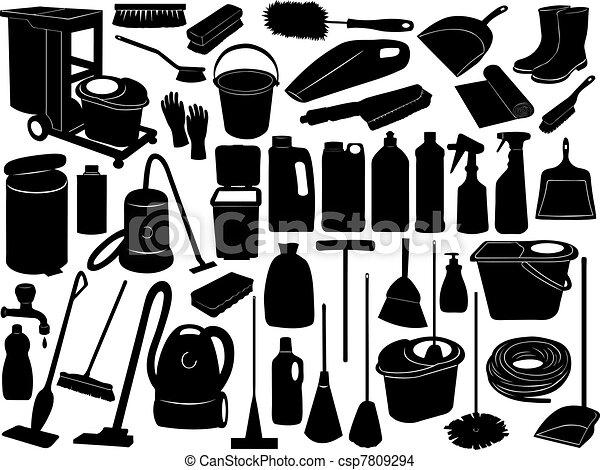 objets, nettoyage - csp7809294