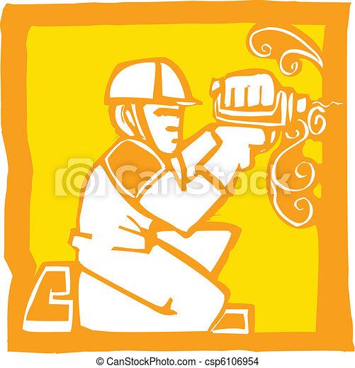 Trabajador con taladro - csp6106954