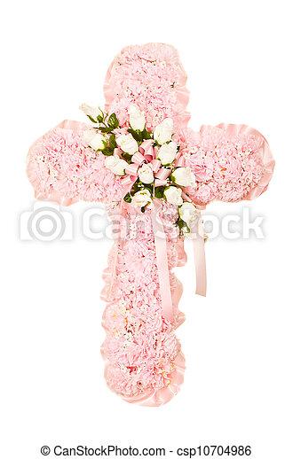 obseque, fleur soie, arrangement - csp10704986