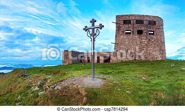 Observatory ruins on Pip Ivan mountain (Carpathian, Ukraine) - csp7814294