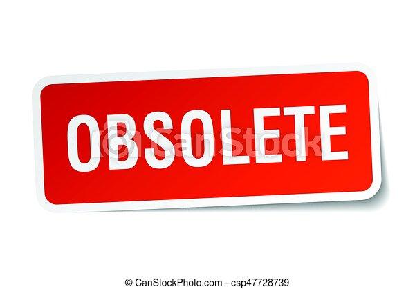 obsolete square sticker on white - csp47728739