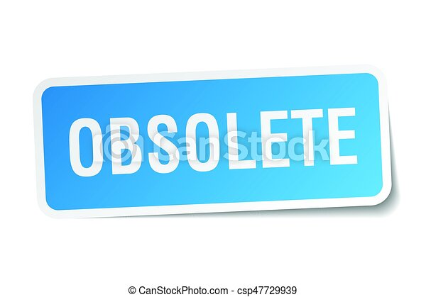 obsolete square sticker on white - csp47729939