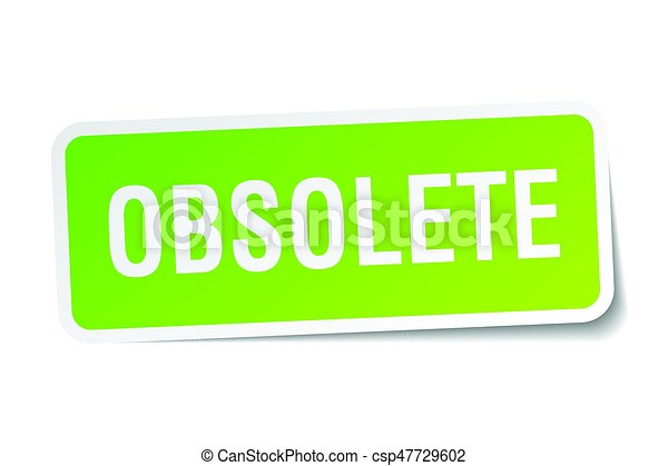 obsolete square sticker on white - csp47729602