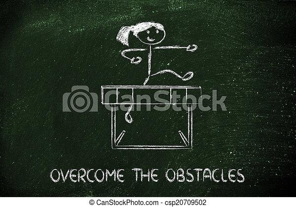 obstacles, conception, obstacle, vie, ton, surmonter - csp20709502