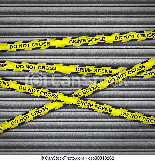 El obturador de metal de la escena del crimen - csp30318262