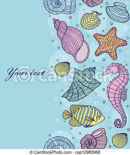 océan, coquilles - csp12980968