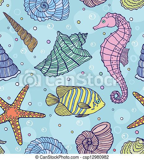 océan, coquilles - csp12980982